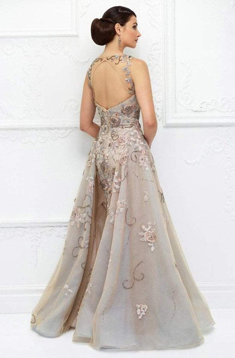 Ivonne D for Mon Cheri - 118D03 Floral Embroidered Illusion Bateau Dress Evening Dresses
