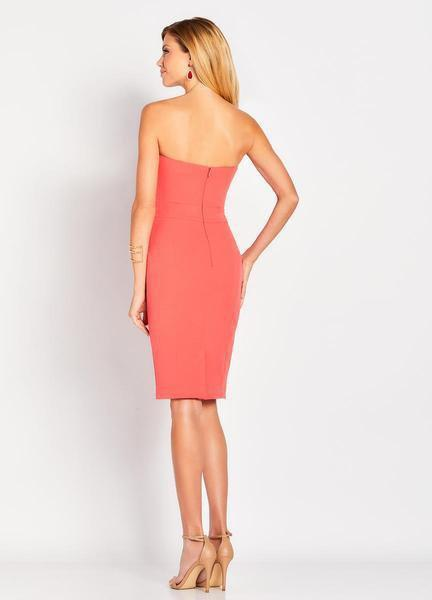 Social Occasions by Mon Cheri - 119830 Pleated Fitted Dress In Orange