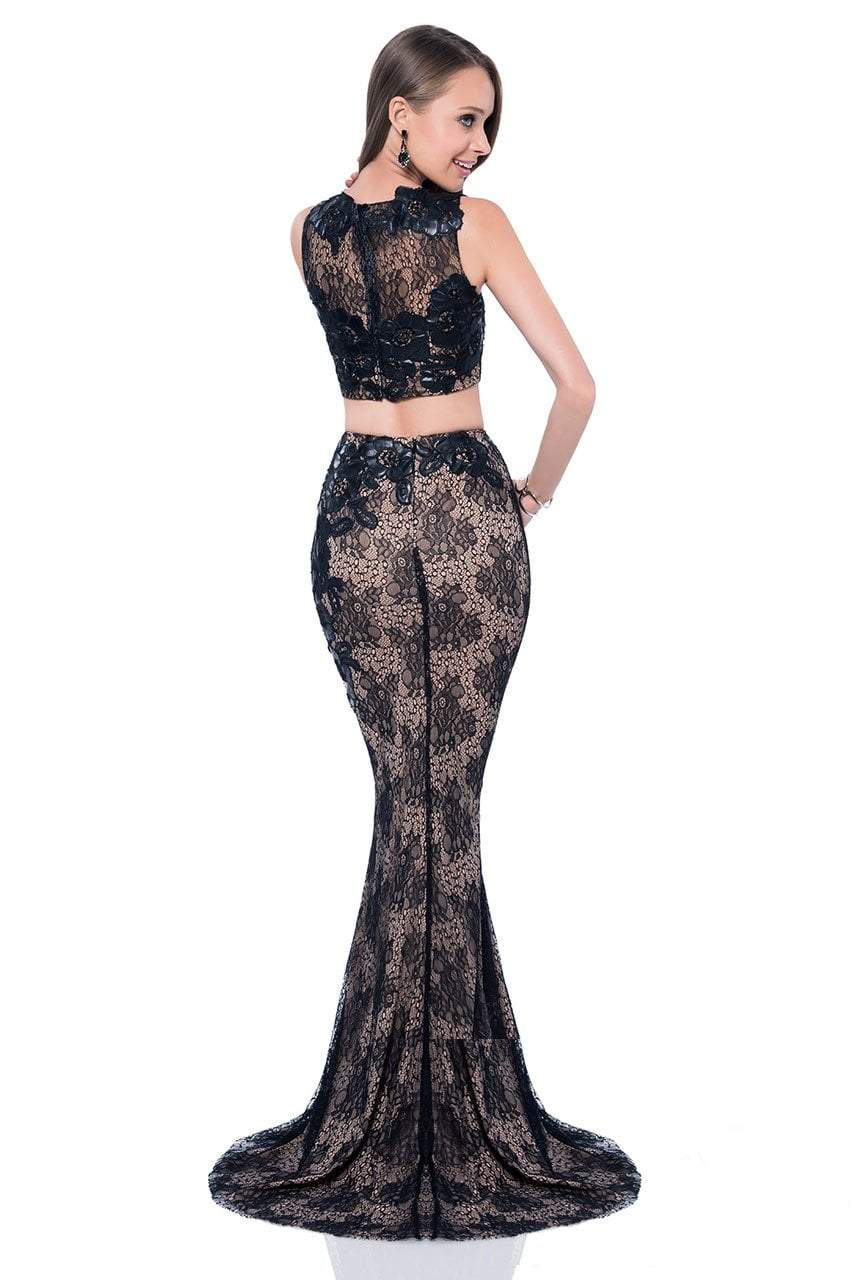 Terani Couture - Daring Sheer Two-Piece Evening Dress 1613P1073 in Black and Neutral