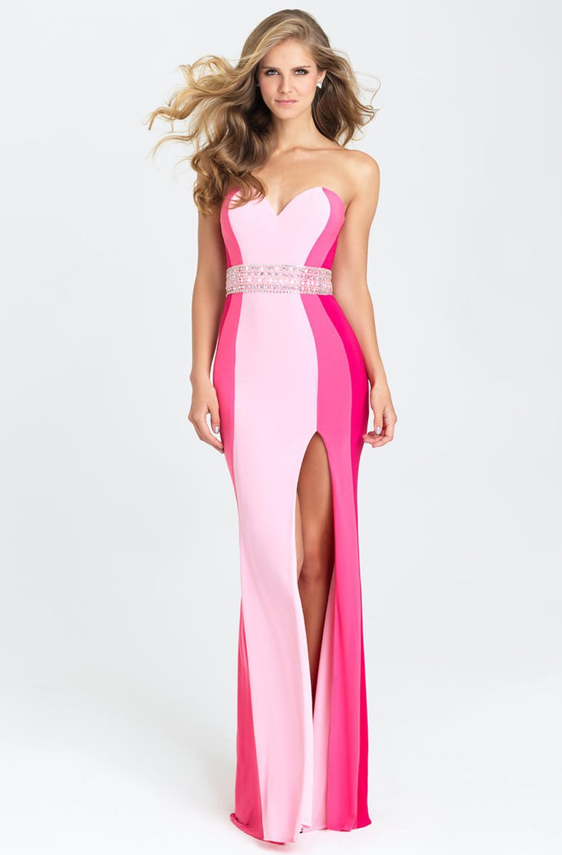 Madison James - 16-381 Dress in Pink