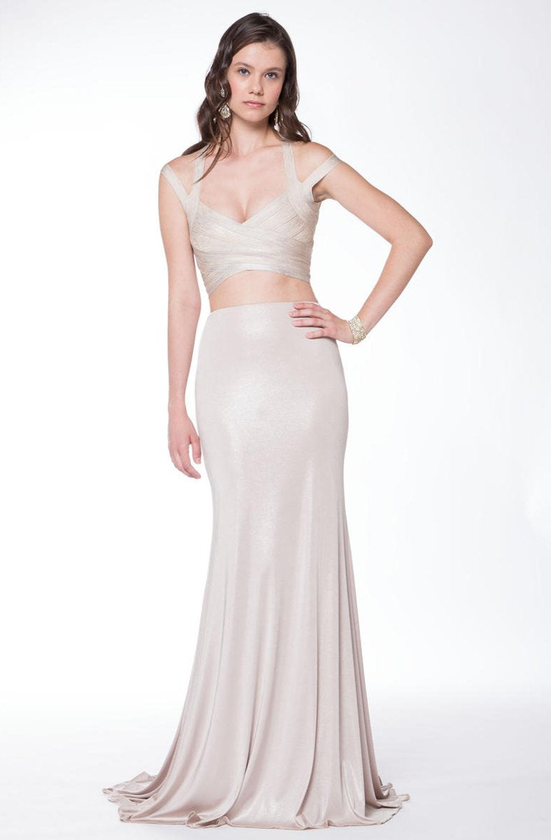 Colors Dress Two Piece Bandage Long Dress 1732 - 1 pc Off White In Size 2 Available In Neutral