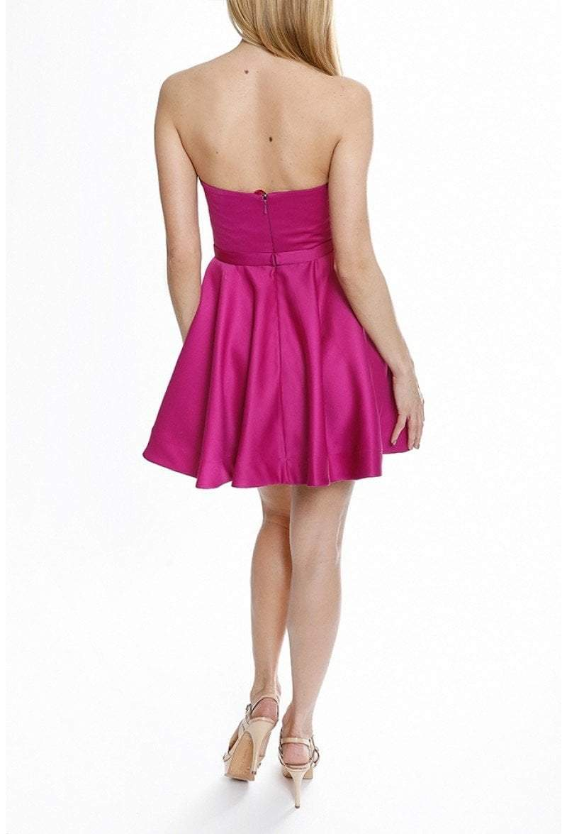 Terani Couture - 1822H7876 Beaded Strapless Sweetheart Bodice Dress In Pink