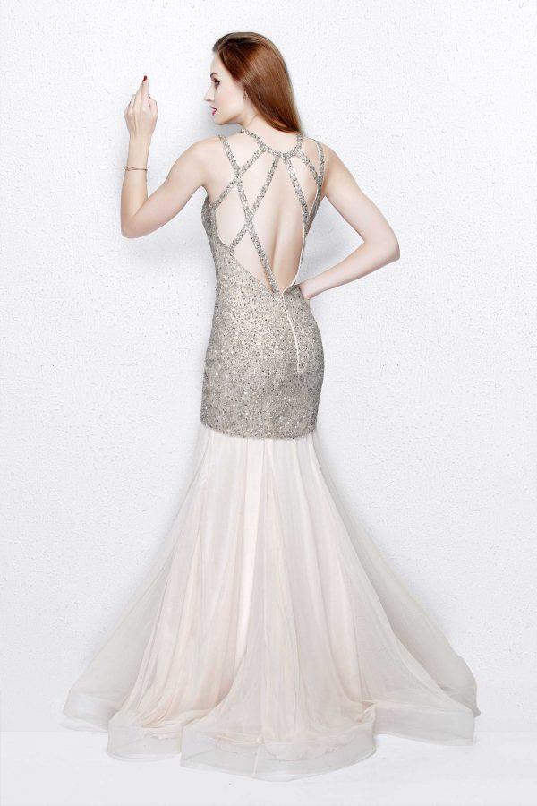 Primavera Couture - Sparkling Mermaid Gown 1826 in Nude