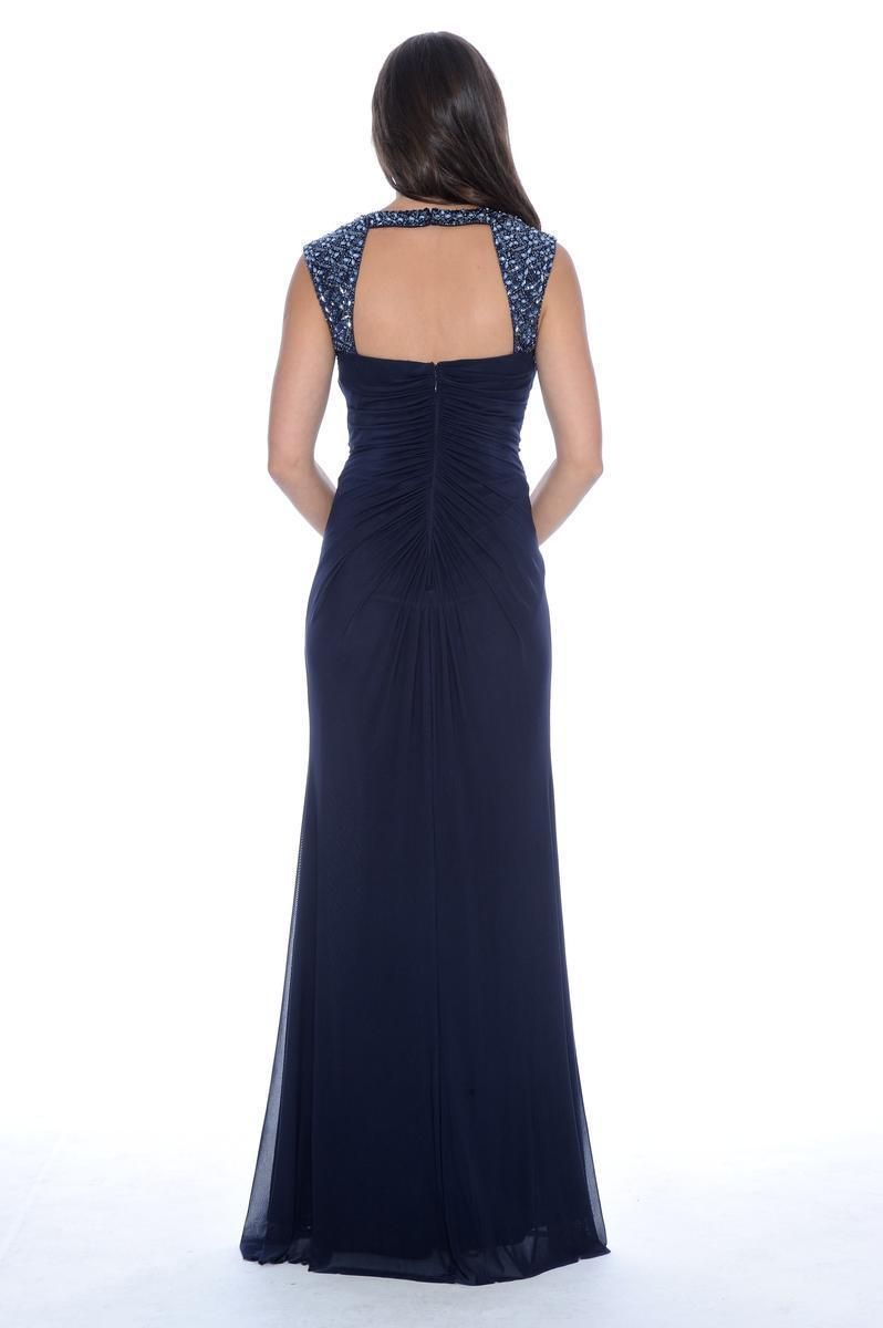 182852 Princess Anne Style Jersey Sheath Dress In Blue
