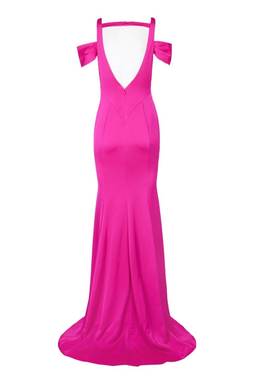 Decode - 184061 Cold Shoulder Sweetheart Jersey Evening Dress in Pink