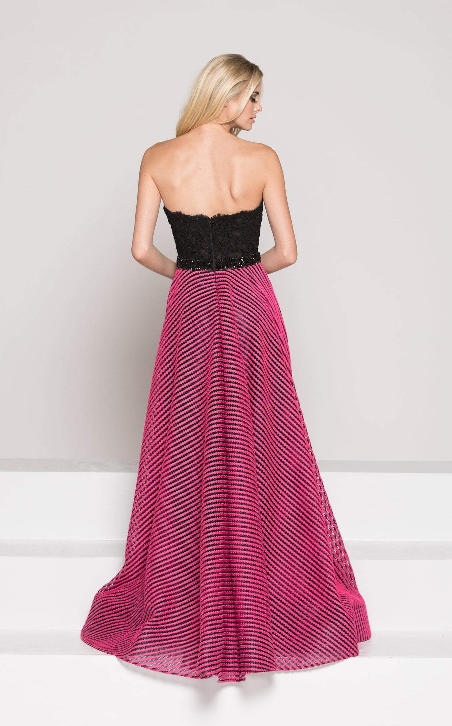 Colors Dress - Sweetheart Strapless Lacey A-line Long Dress 1875SC