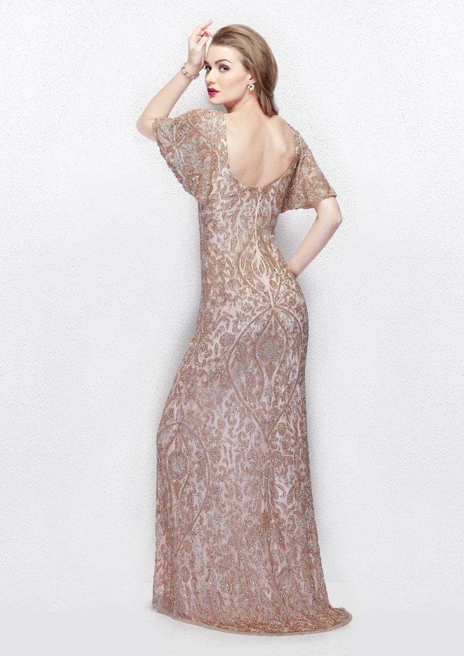 Primavera - 1991 Embellished Scoop Sheath Dress in Pink