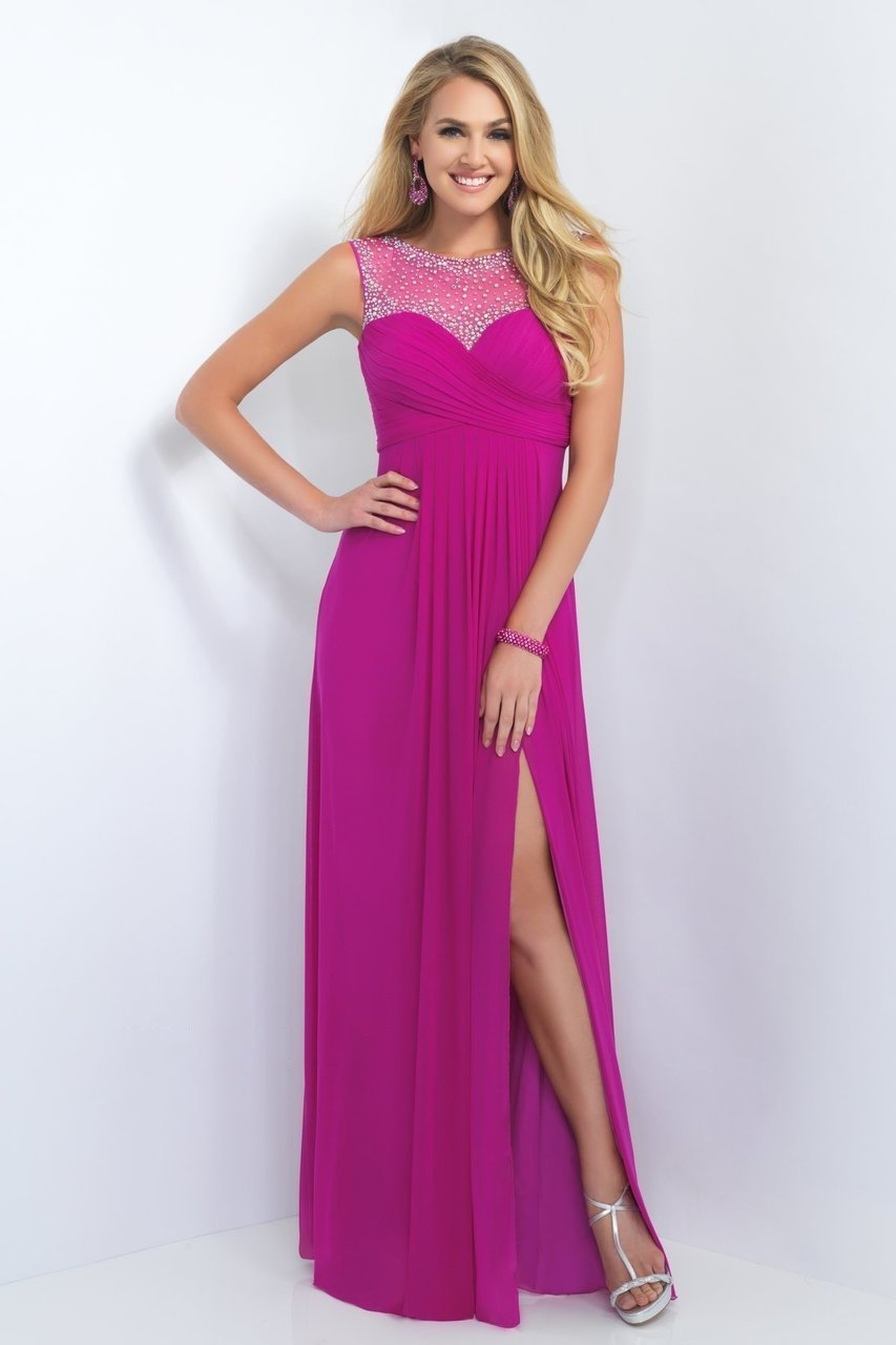Blush by Alexia Designs - 11096 Crystal Embellished Sweetheart Gown Special Occasion Dress 0 / Magenta