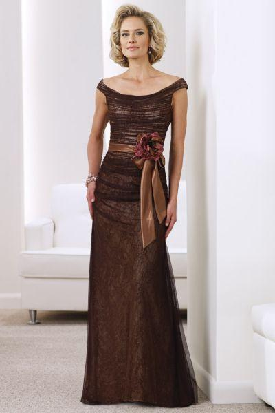 Montage by Mon Cheri - 211910 Long Dress In Cocoa Nude