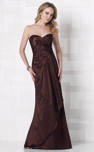 Cameron Blake by Mon Cheri - 212690 Long Dress In Cocoa