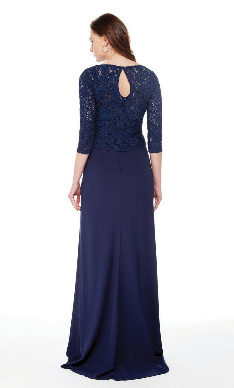Alyce Paris - 27017 Quarter Length Sleeve Lace Sheath Dress Special Occasion Dress