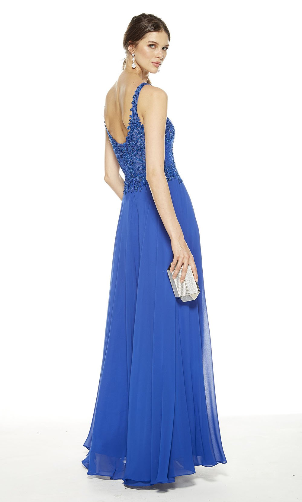 Alyce Paris - 27395SC Embellished Sleeveless V-Neck Bodice A-Line Gown