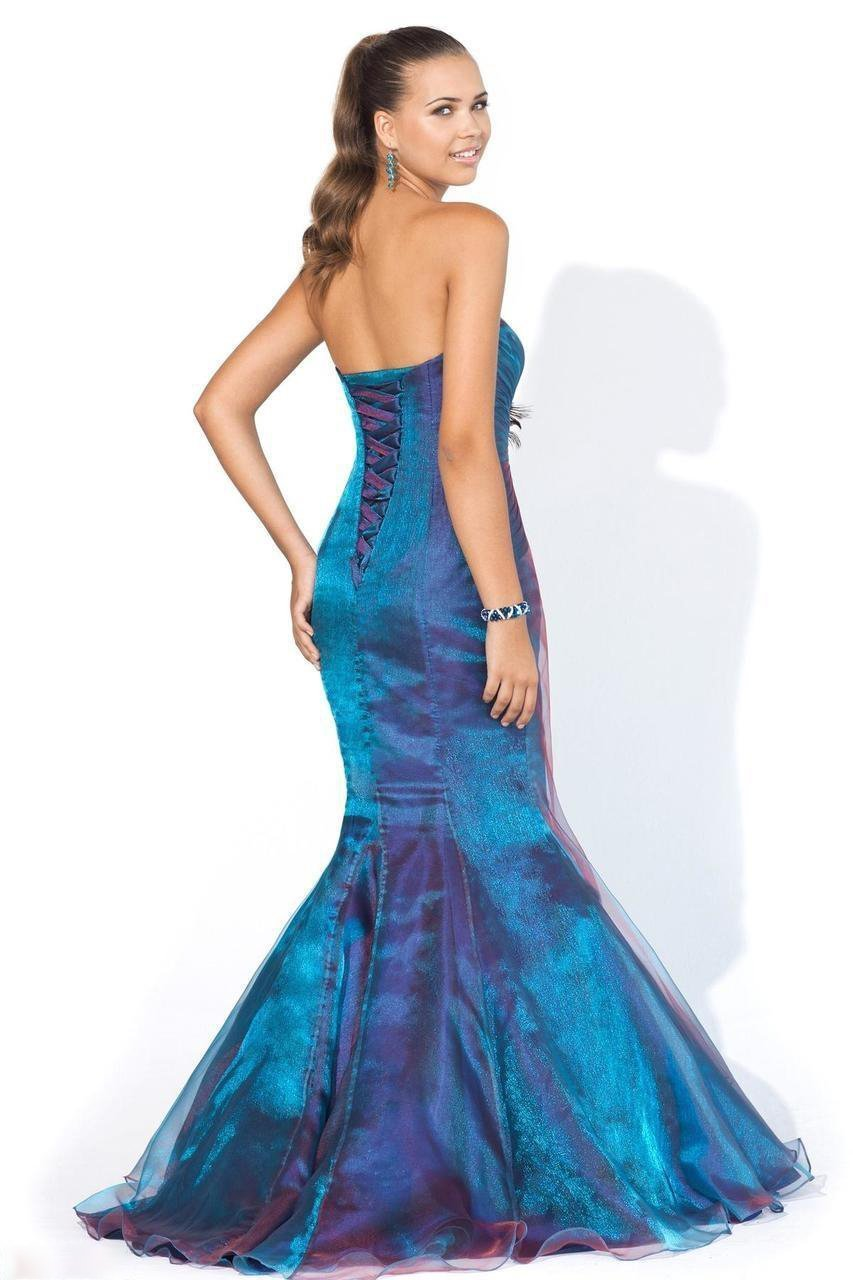 Blush - 9318 Gorgeous Strapless Embellished Mermaid Gown Special Occasion Dress