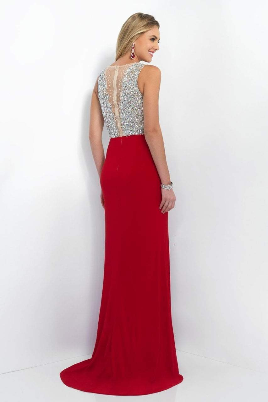 Blush by Alexia Designs - 11009 Jewel Encrusted Plunging Illusion Gown Special Occasion Dress