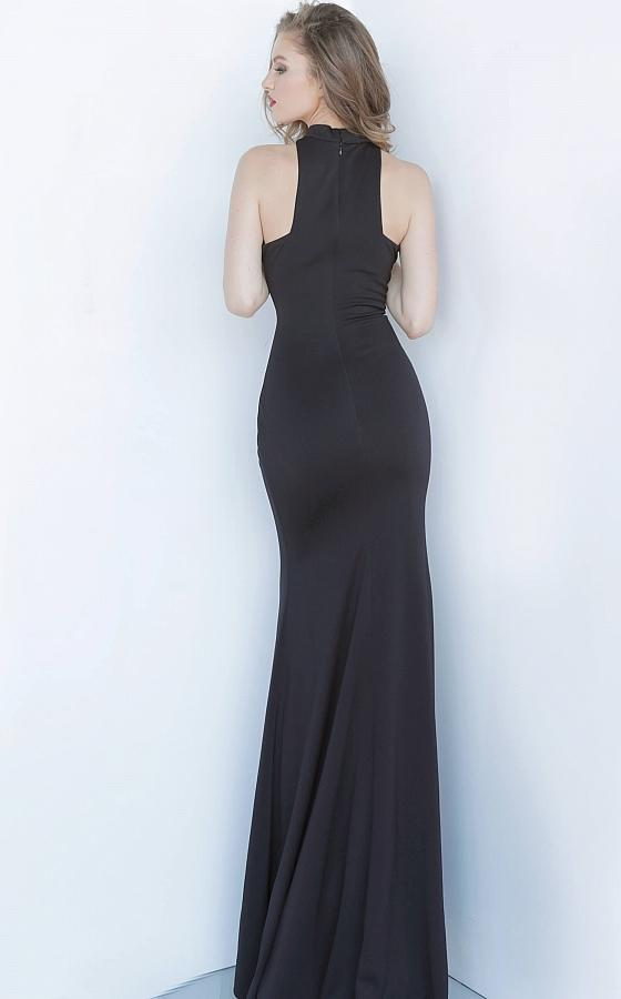 Jovani - Sleeveless Halter Neck Trumpet Dress 3083SC