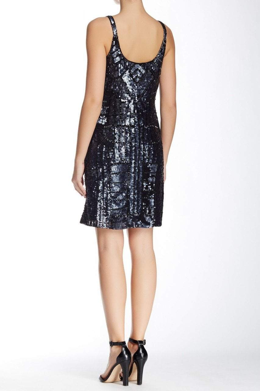 Adrianna Papell - Full Sequin Tank Style Dress 41886030 in Gray