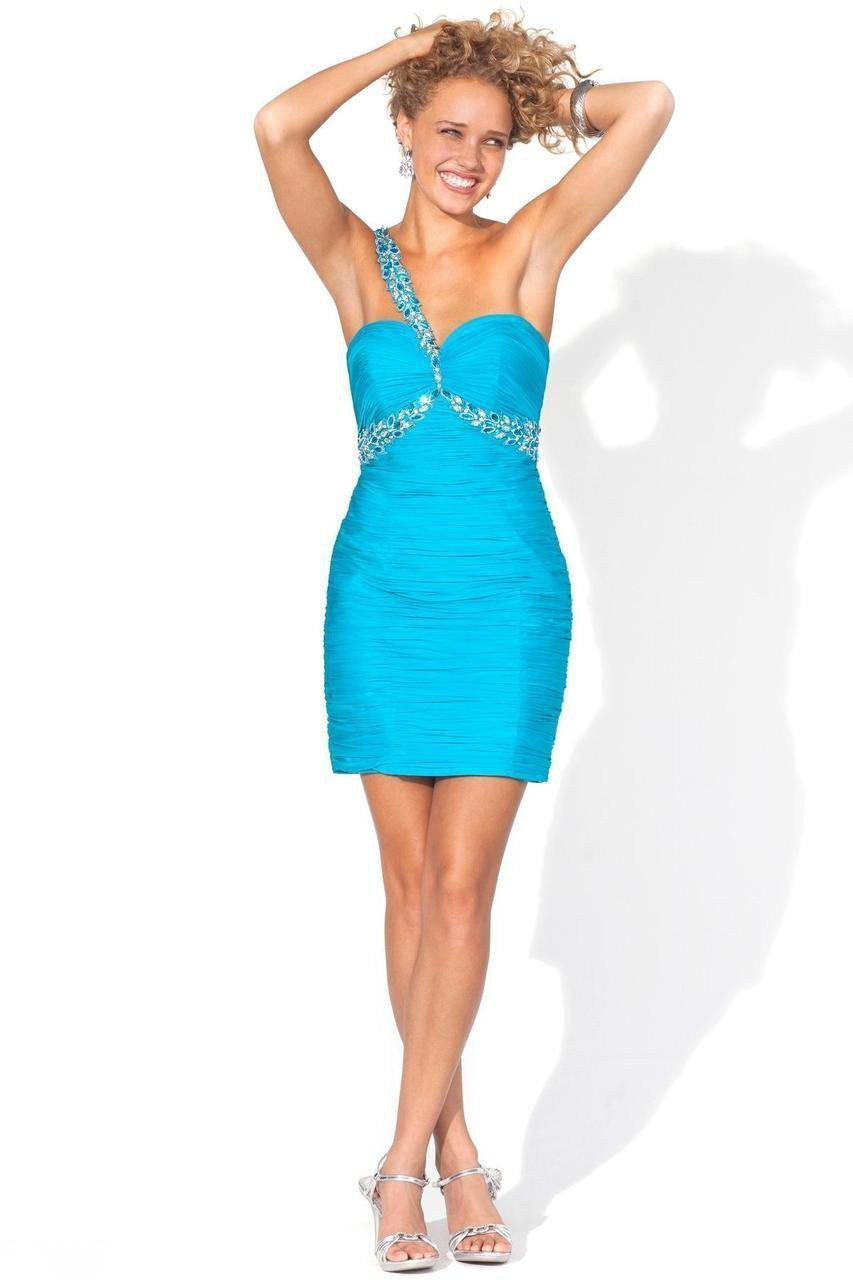 Blush - 9382 Ornate Applique Sweetheart Sheath Cocktail Dress Special Occasion Dress 0 / Turquoise