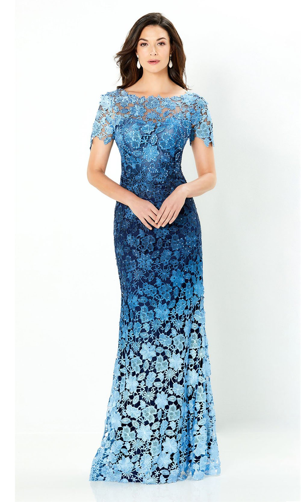 Montage by Mon Cheri - 119958SC Ombre Lace Long Dress