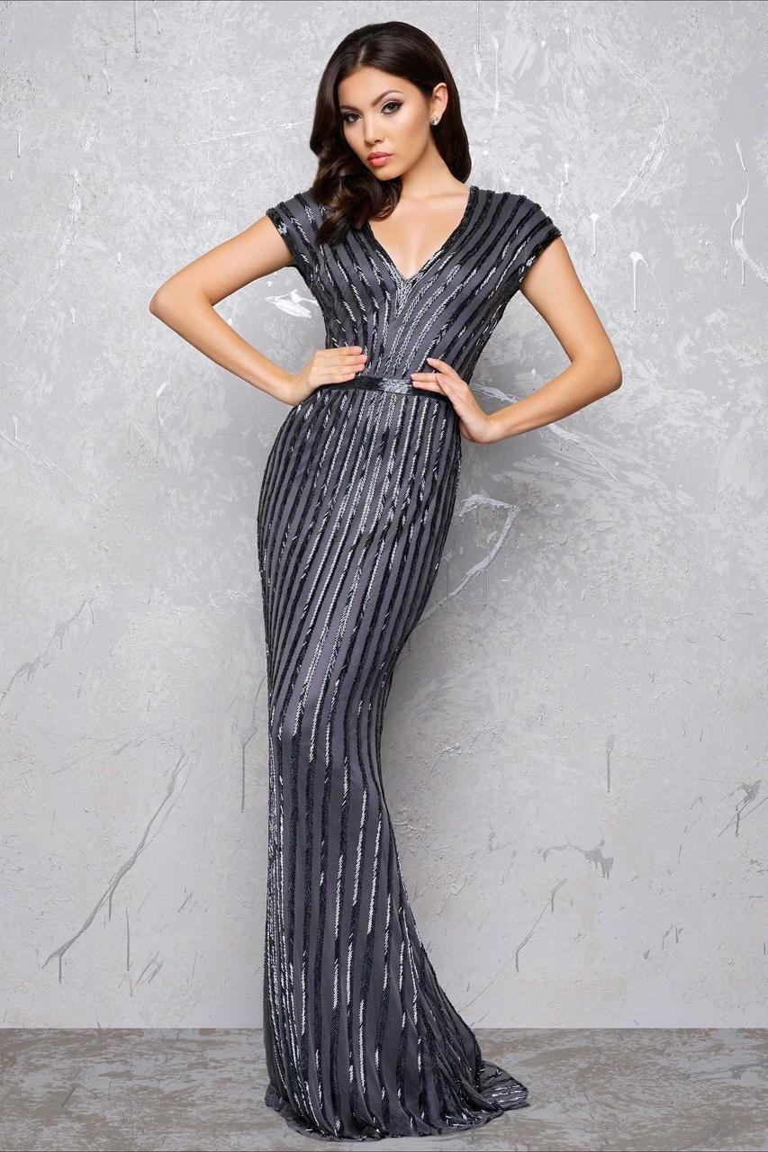 Mac Duggal - Couture Dresses Style 4431D in Gray