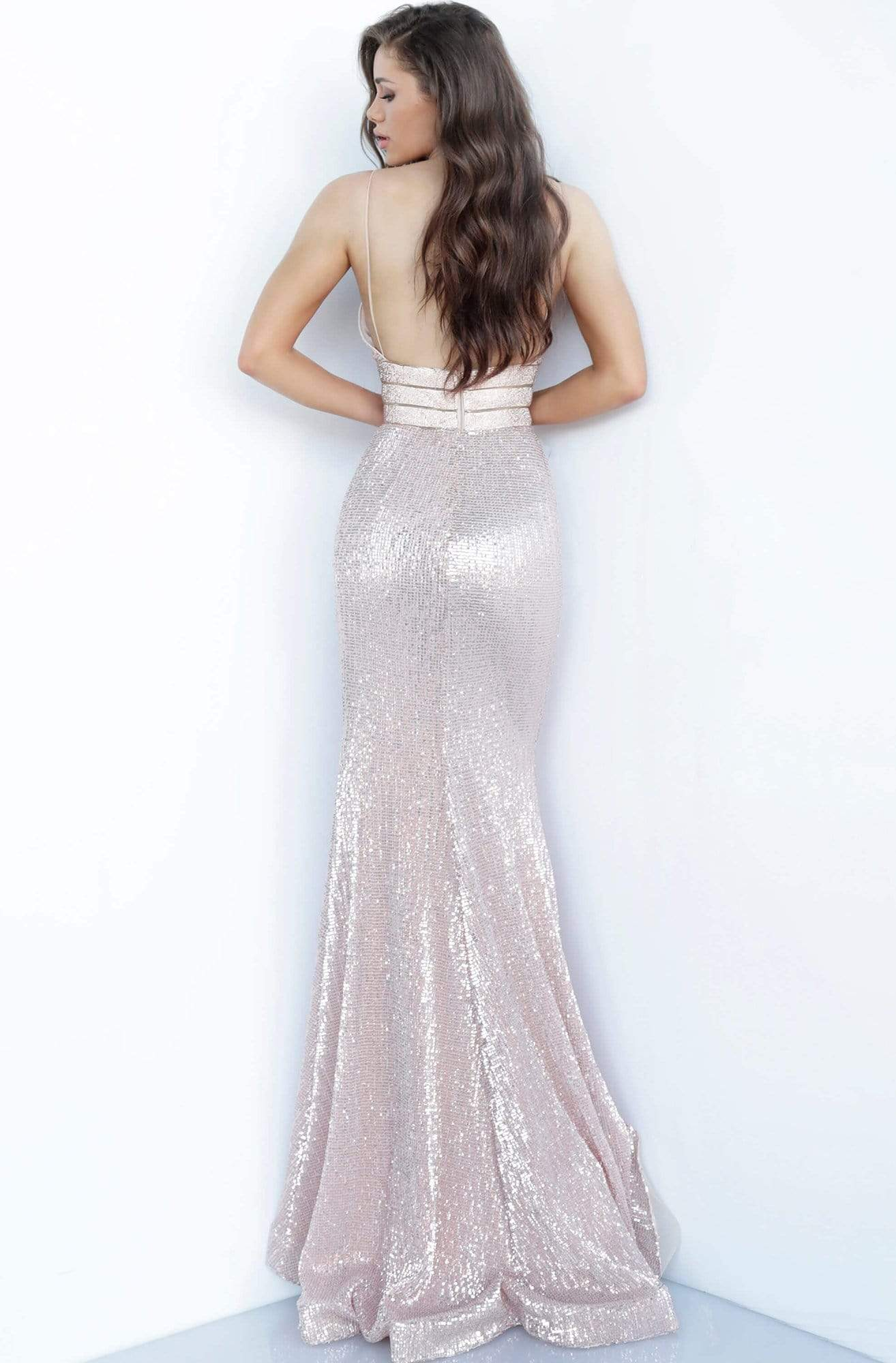 Jovani - 4697 Sequined Plunging V-Neck Gown Pageant Dresses