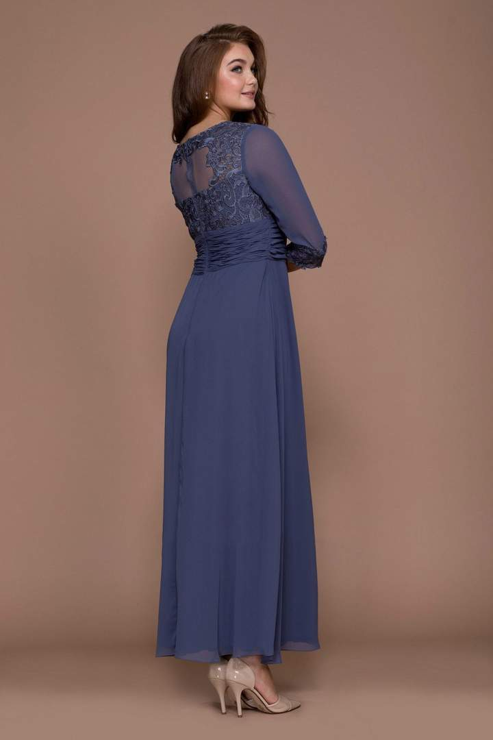 Nox Anabel - 5101SC Lace Jewel A-Line Evening Dress