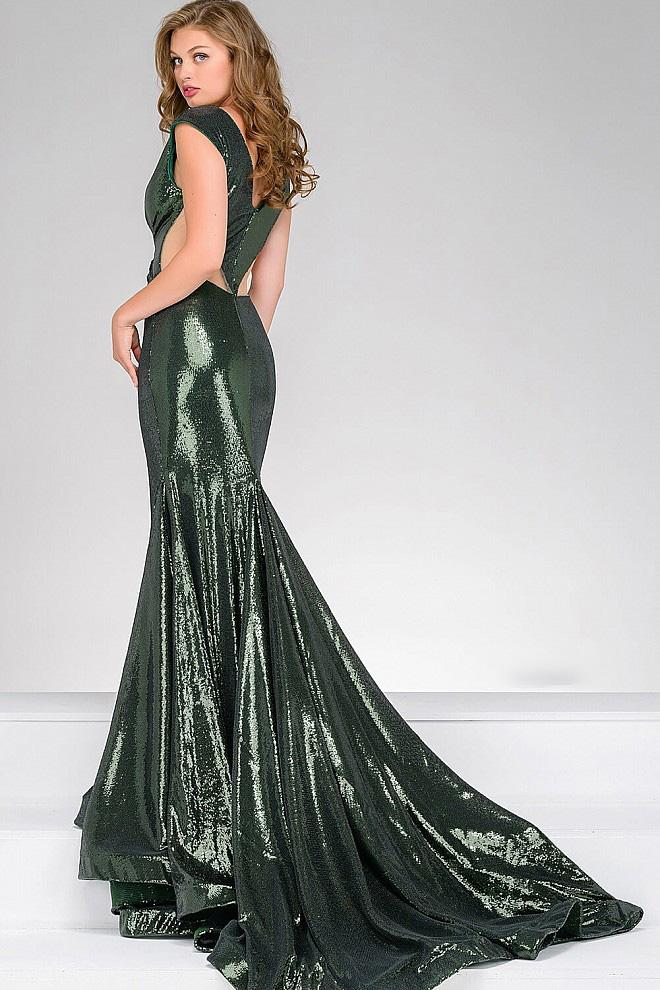 Jovani - Sequined Fitted Prom Dress 56969 Special Occasion Dress