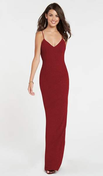 Alyce Paris - 60292SC Sleeveless Shimmer Jersey Fitted Evening Dress