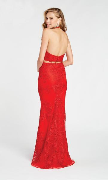 Alyce Paris - 60487 Two Piece High Halter Sheath Gown In Red