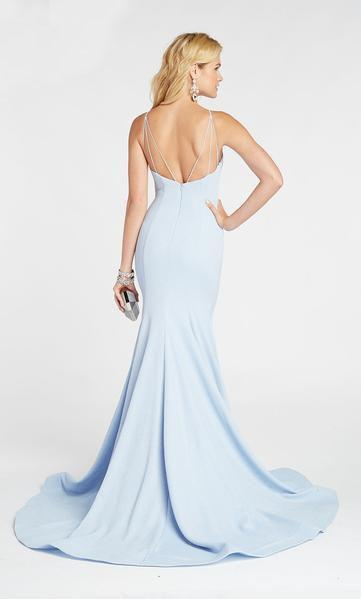 Alyce Paris - 60551 Halter Fitted Glitter Jersey Mermaid Evening Dress In Blue
