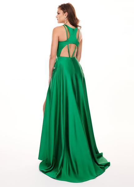Rachel Allan - 6405 Halter Neck and Shorts with Overlay Prom Dress In Green