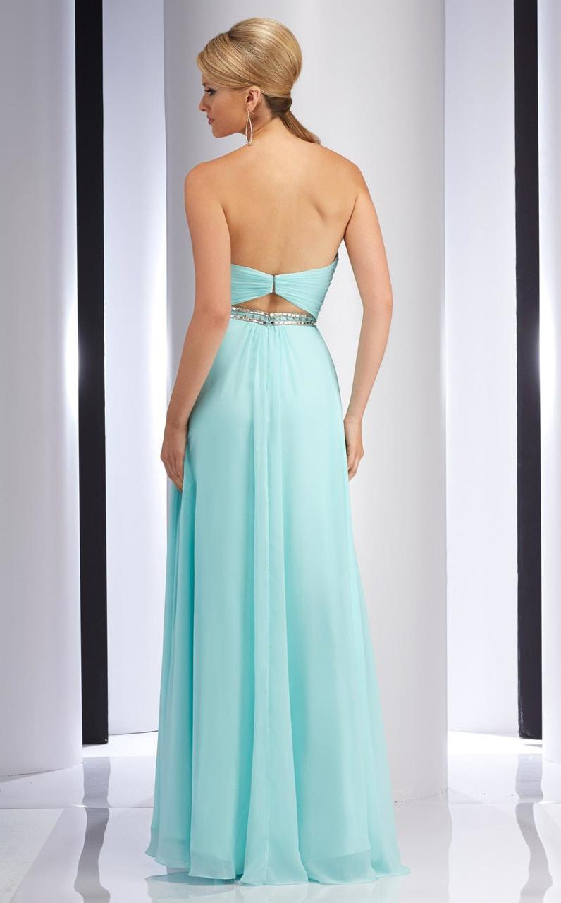 Clarisse - 2827 Ruched Sweetheart A-line Dress in Green