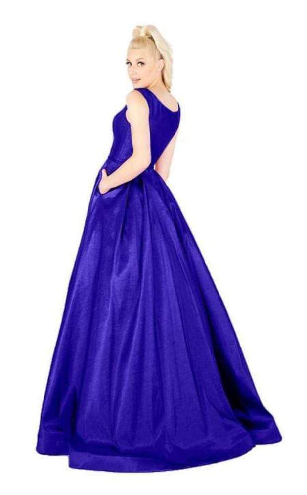 Mac Duggal Flash - 66920L Sleeveless Vibrant Taffeta A-Line Gown Special Occasion Dress
