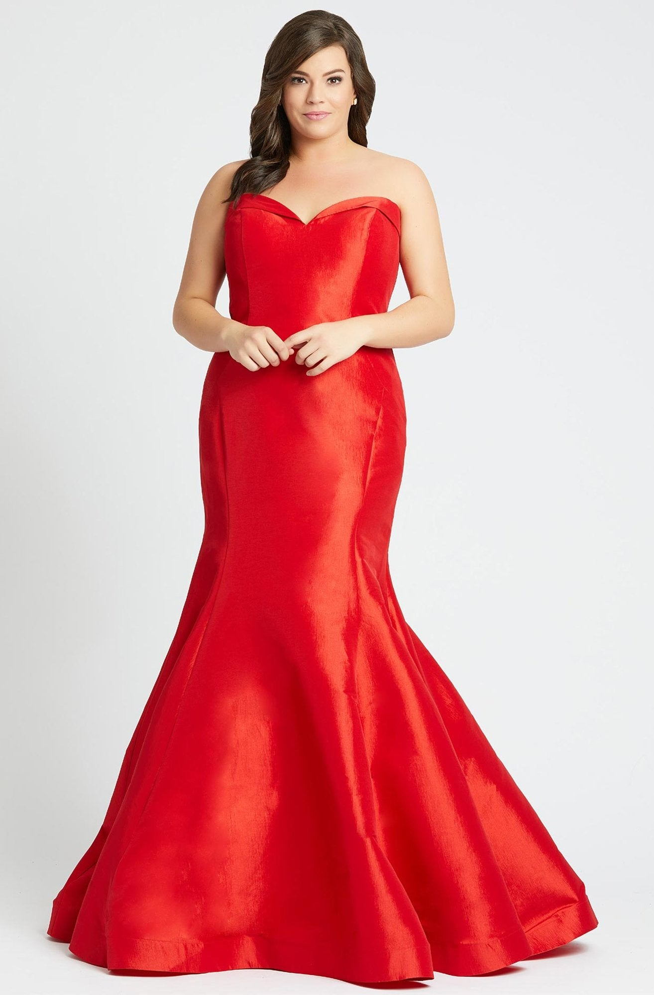 Mac Duggal - 67606F Strapless Foldover Sweetheart Mermaid Dress in Red
