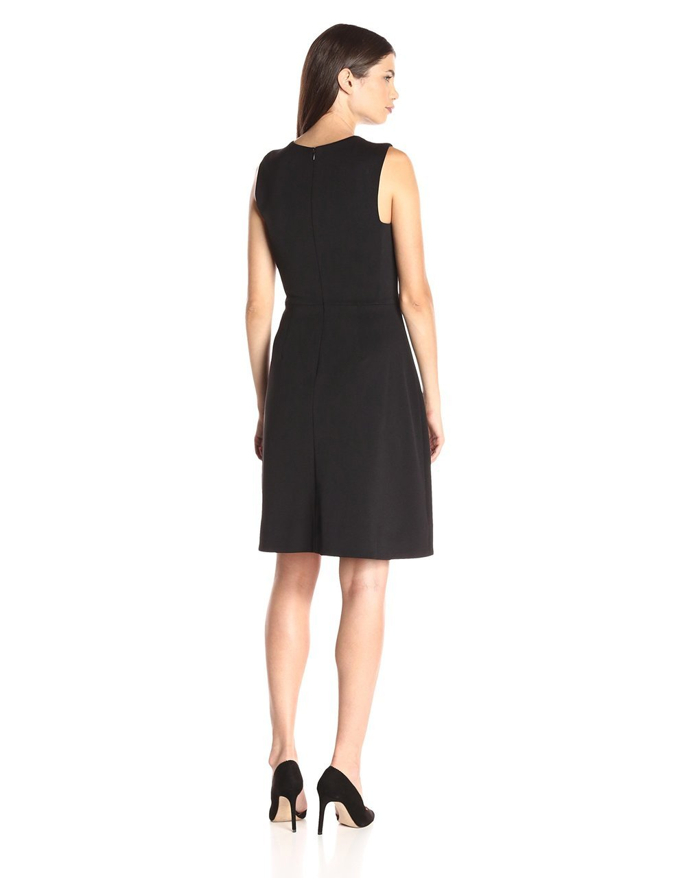 Maggy London - G2499M Embellished Neck Sleeveless Dress in Black