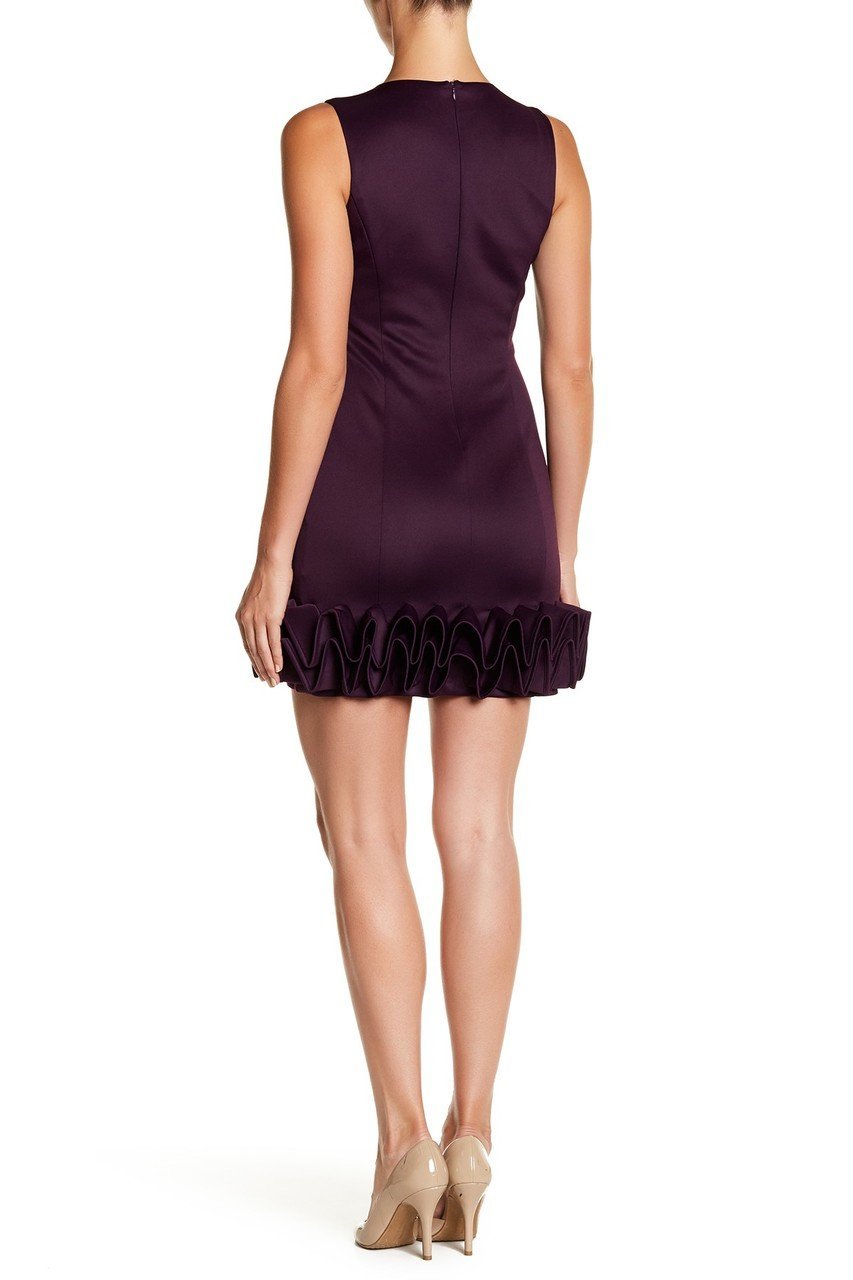 Donna Ricco - DR50182 Sleeveless Ruffle Hem Cocktail Dress in Purple