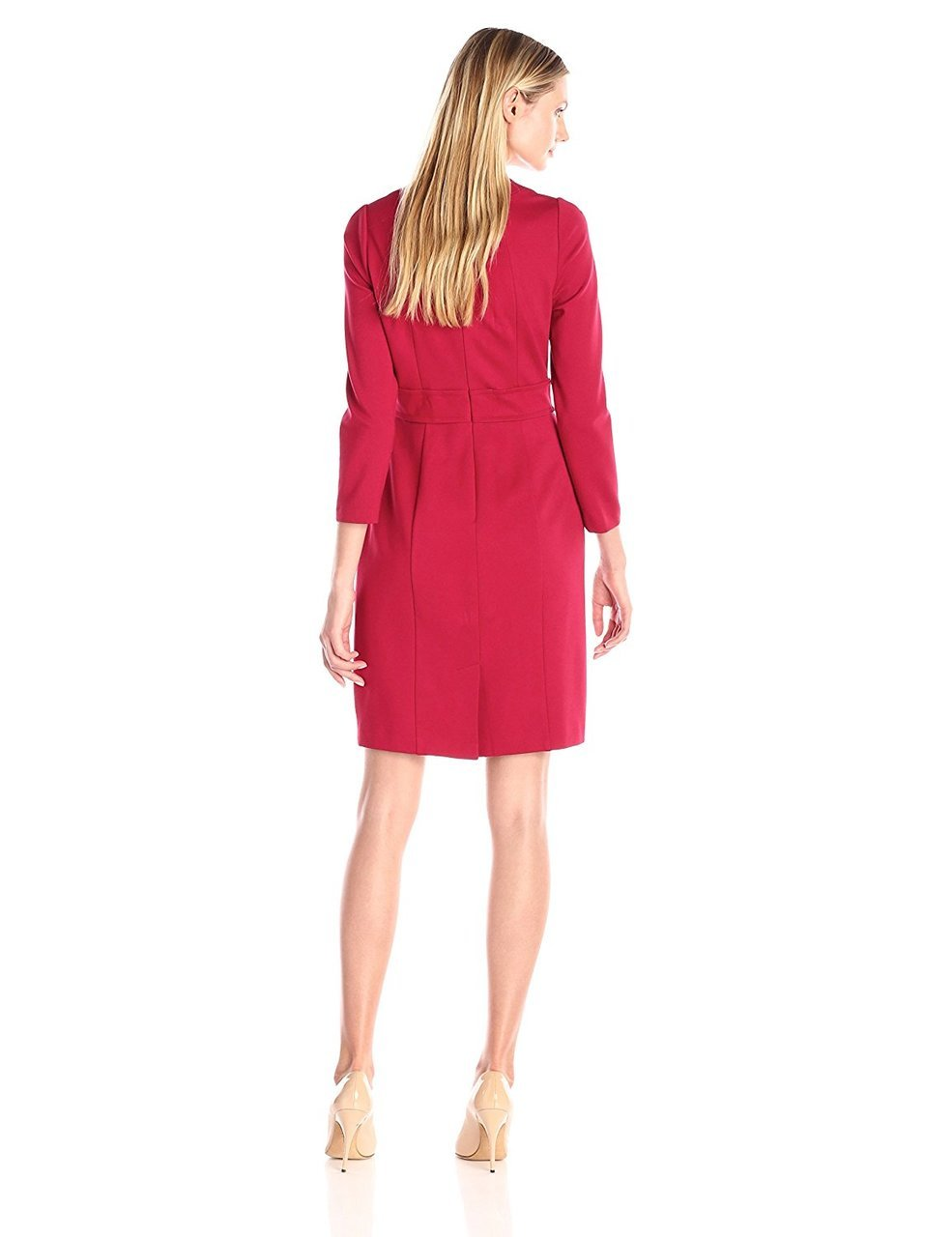 Adrianna Papell - Square Neck Ponte Dress 15246420 in Red