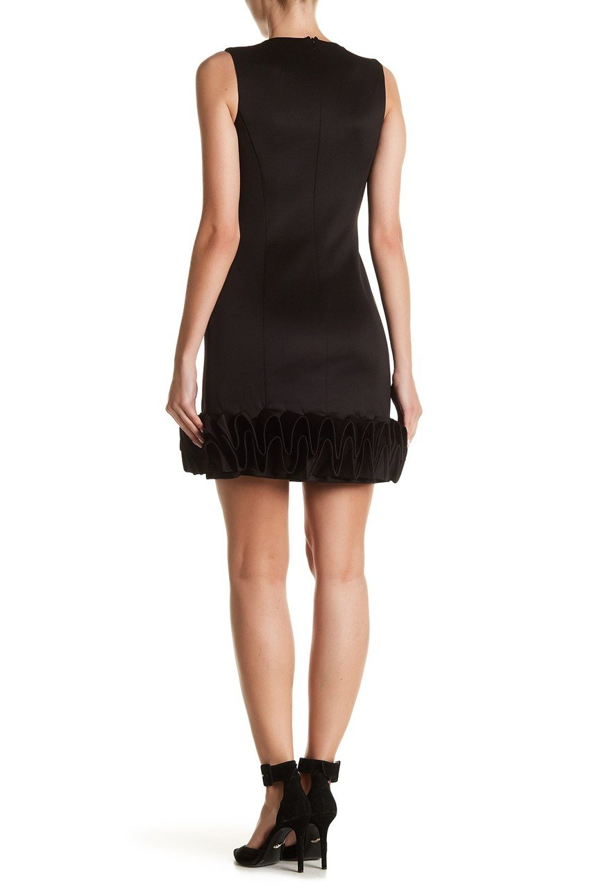 Donna Ricco - DR50182 Sleeveless Ruffle Hem Cocktail Dress in Black
