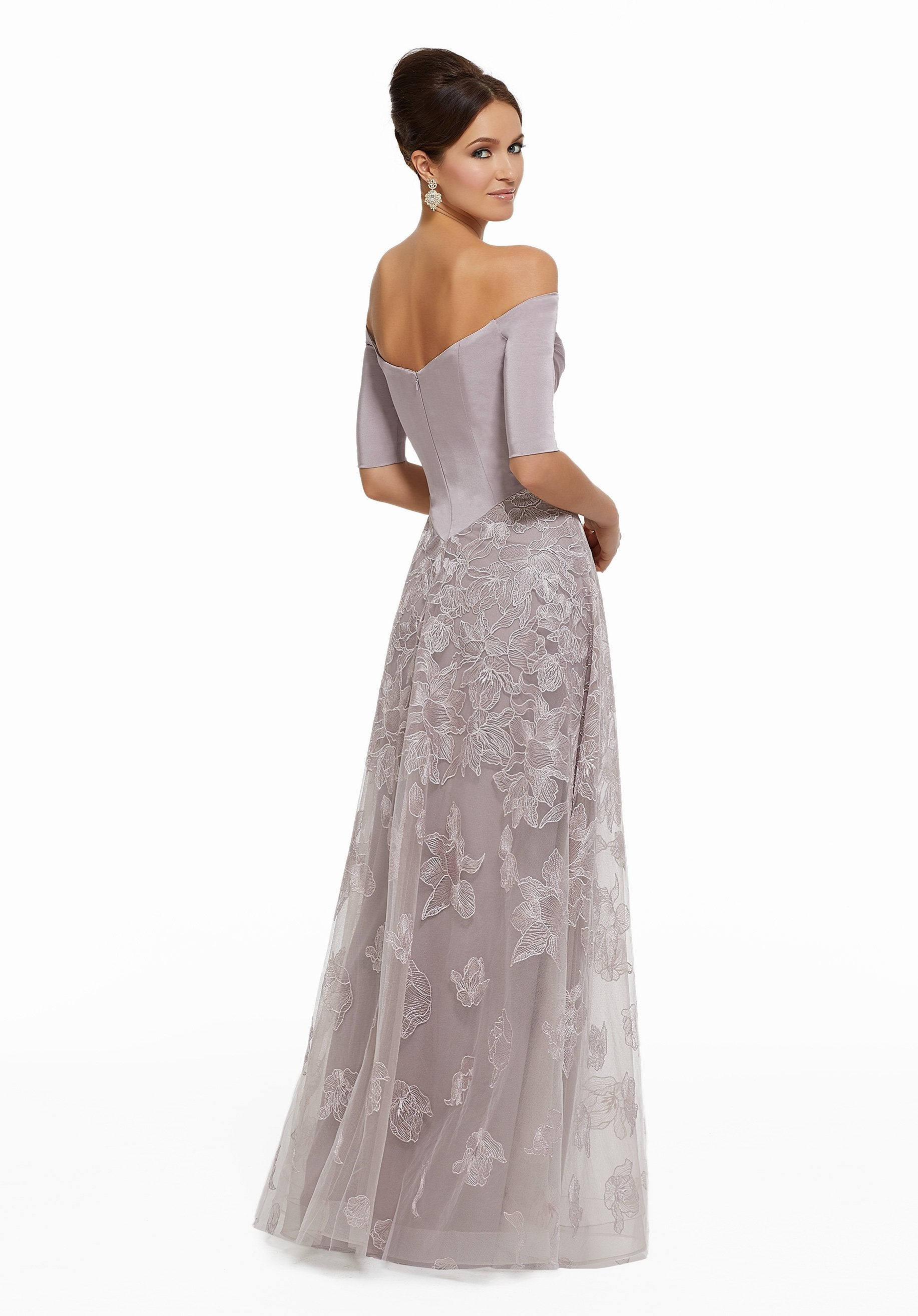 MGNY By Mori Lee - 72025SC Off-Shoulder Embroidered A-line Gown