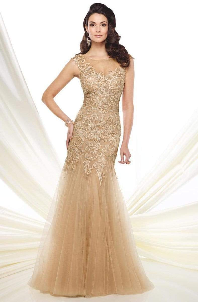 Montage by Mon Cheri - 216964 Dress Evening Dresses 4 / Champagne