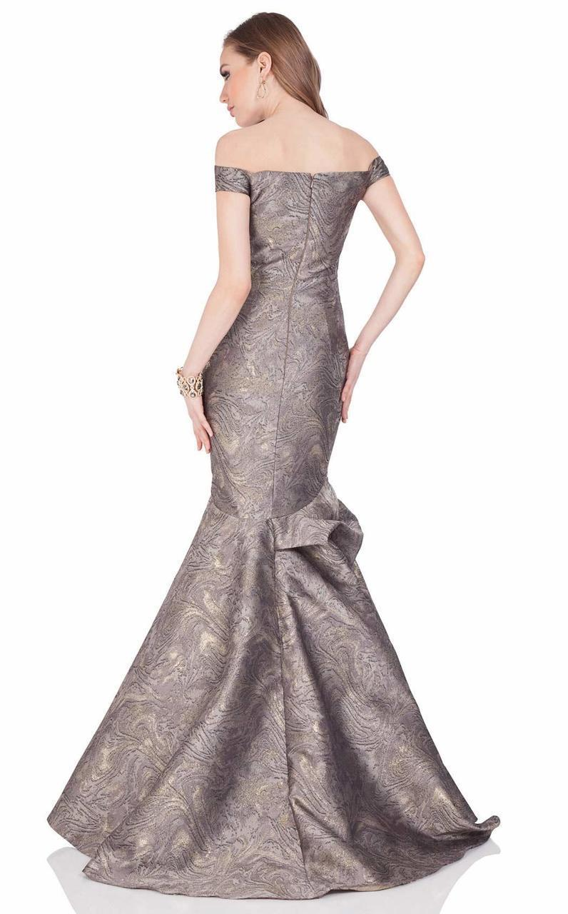 Terani Couture - Off The Shoulder Mermaid Gown 1621E1474 In Gray