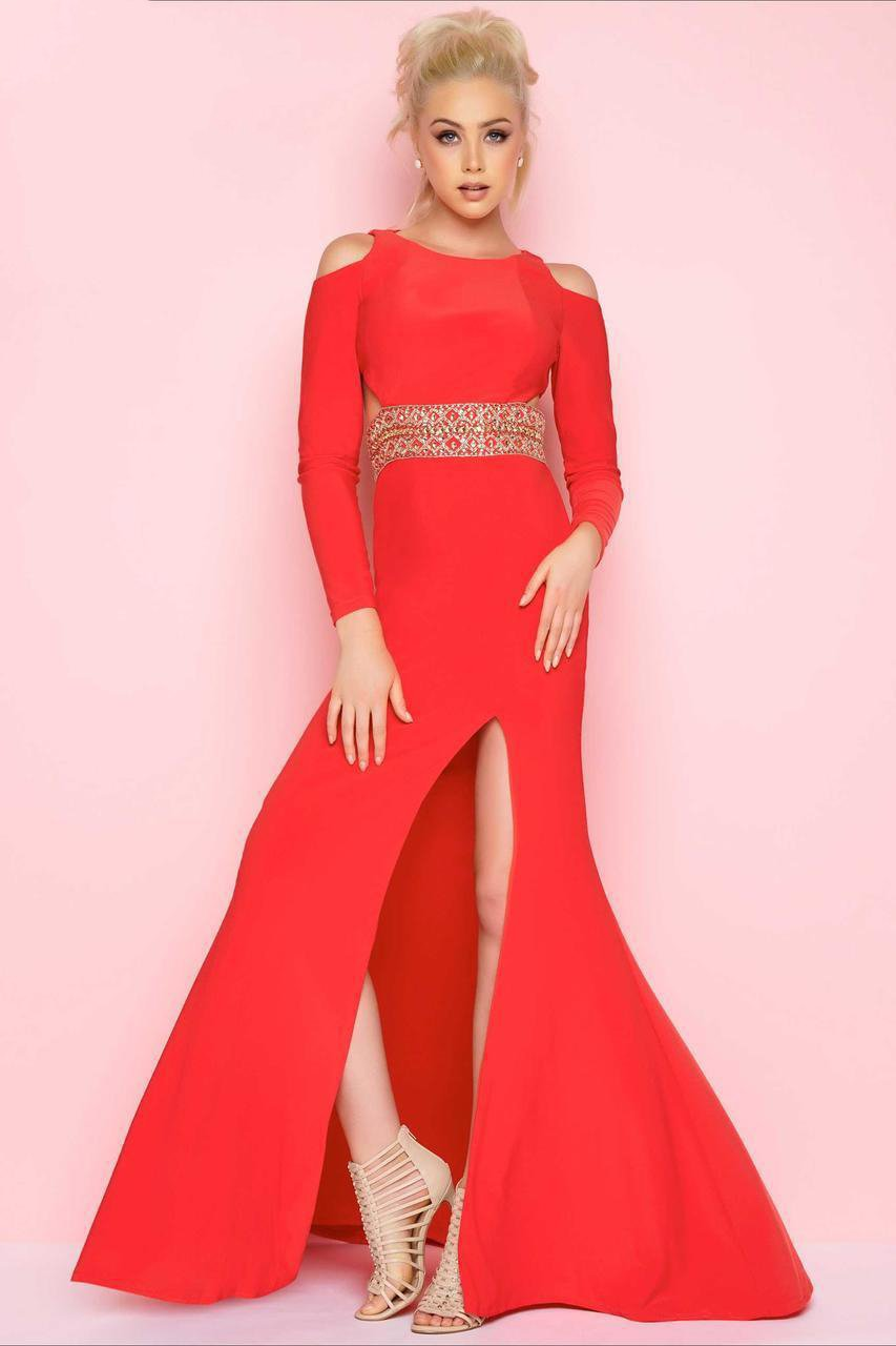 Mac Duggal - 77238L Flash Style in Red
