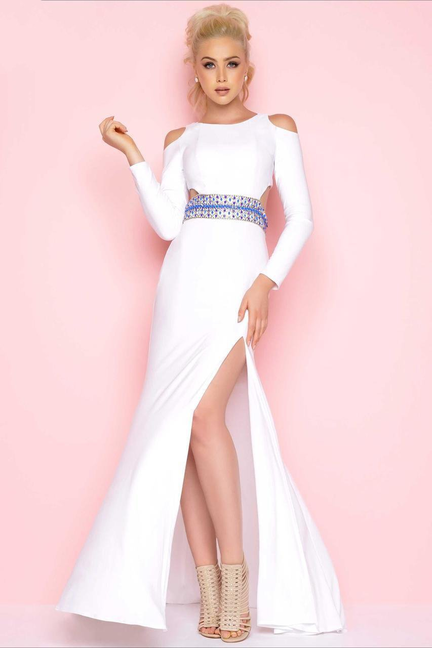 Mac Duggal - 77238L Flash Style in White
