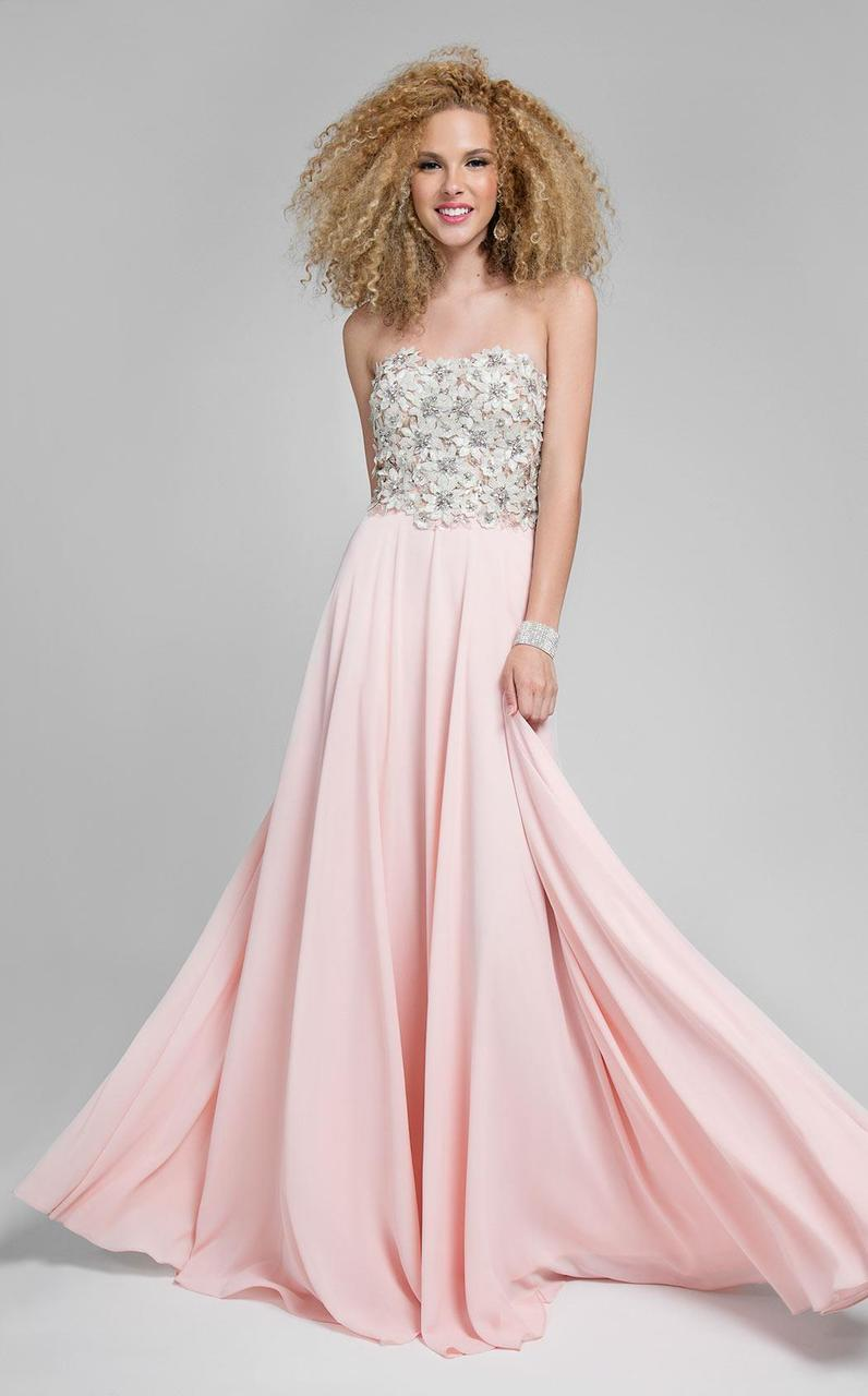 Terani Couture - Stunning Beaded Sweetheart Polyester A-line Dress 1712P2452 In Pink