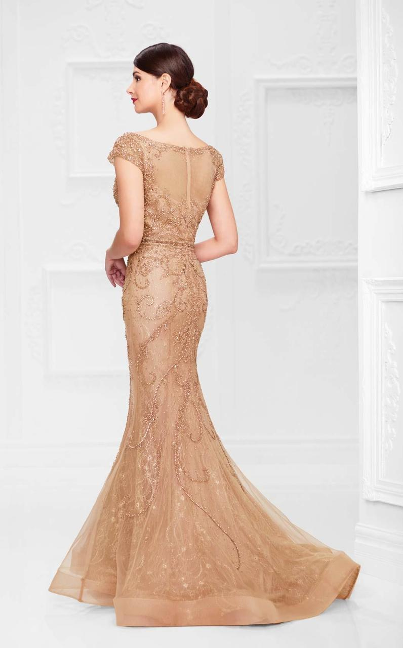 Mon Cheri - Embellished Mermaid Gown 117D66 in Brown