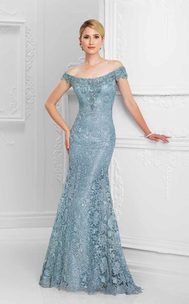 Ivonne D for Mon Cheri - 117D71 A-Line Gown in Blue
