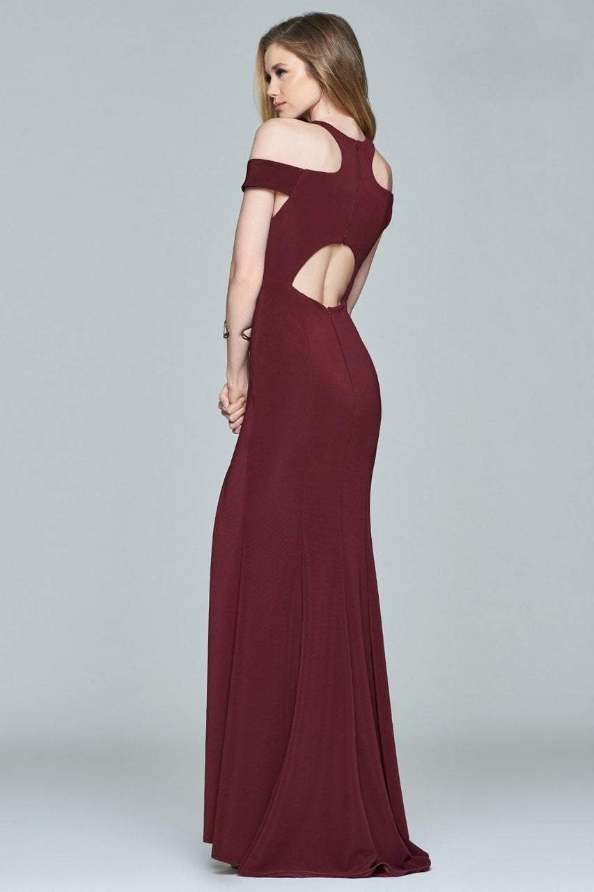 Faviana - Long Dress with a Slit 8086 in Red