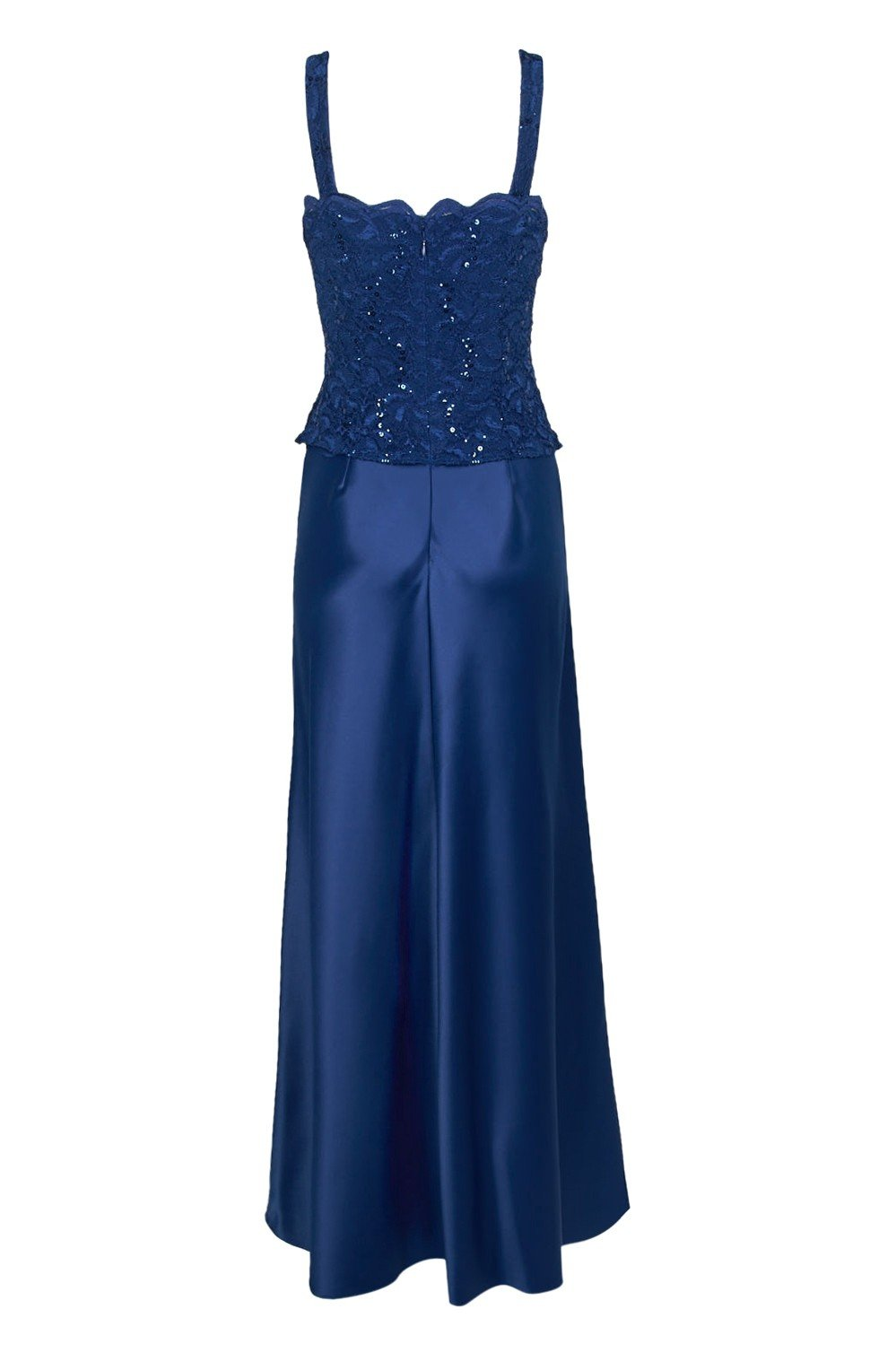 Alex Evenings - 81122152 Lace Bodice Long A-Line Dress with Jacket In Blue