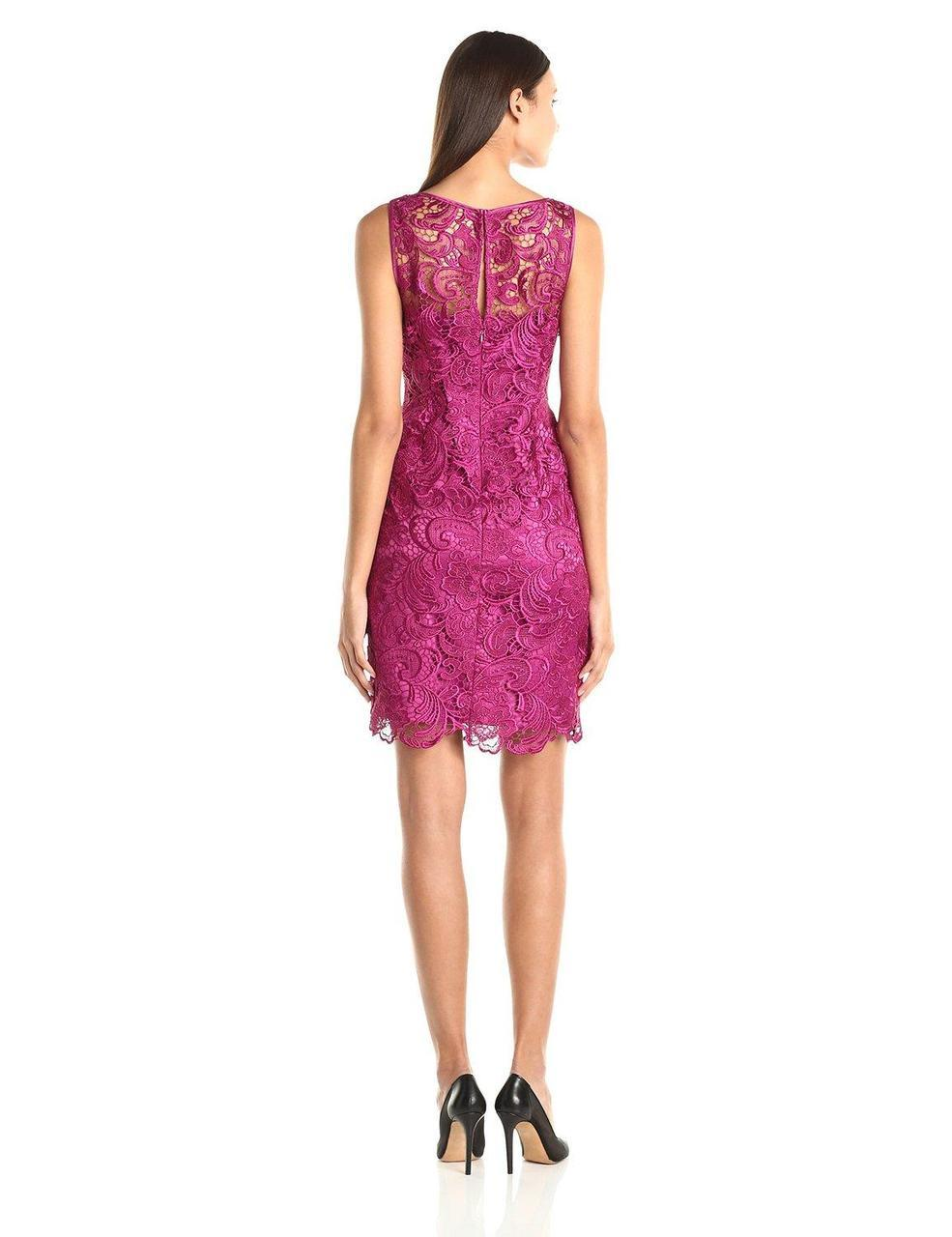 Adrianna Papell - Lace Overlay Dress 41863800 in Pink
