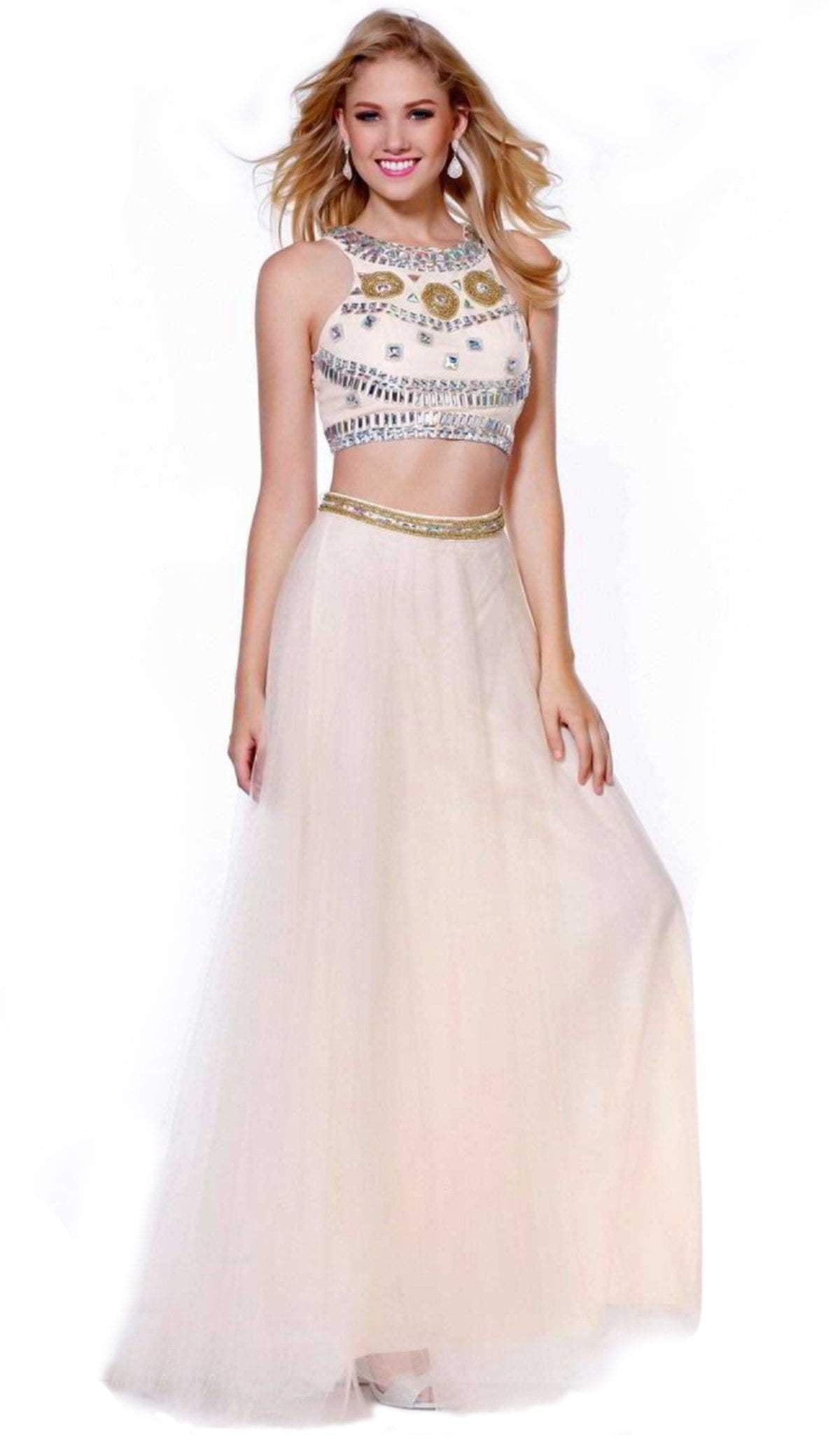 Nox Anabel - Jeweled Two Piece A-line Dress 8162SC