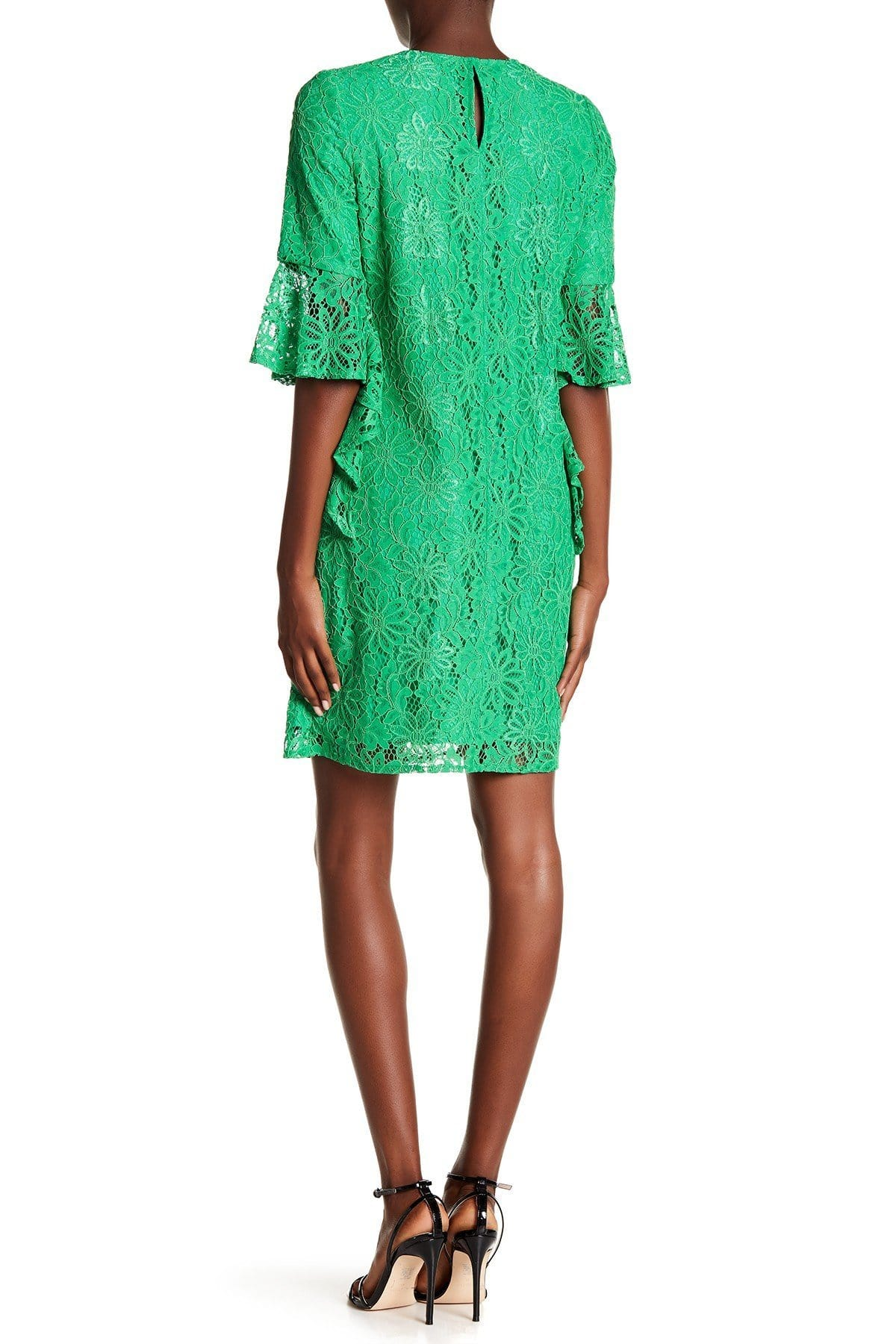 Nanette Nanette Lepore - ND8S10S99 Bell Sleeve Lace Shift Dress In Green